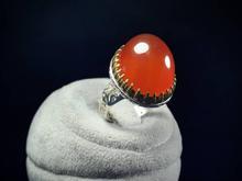 انگشتر نقره عقیق سرخ دامله در شیپور