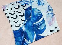 روسری طرح دار آبی سفید در شیپور-عکس کوچک