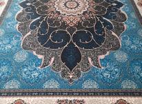 فرش دربار کاشان آبی فیروزه ایی 6متری طرح 700 شانه کد 216 در شیپور-عکس کوچک