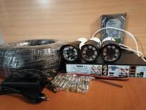 پک کامل دوربین مداربسته بولت(ضدآب)3 تایی FULL HD مدار بستهR6 در شیپور