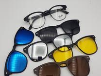 عینک طبی با 5 کاور مگنتی آفتابی کد 9005 در شیپور