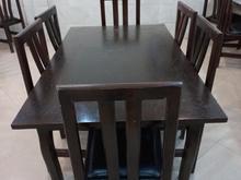 میز و صندلی چوبی در شیپور