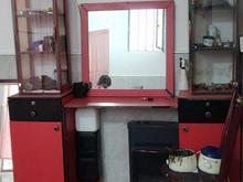 ویترین ارایشگاه و صندلی ارایشگاه در شیپور
