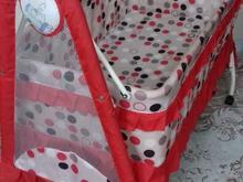 گهواره با پارچه خوش رنگ در شیپور